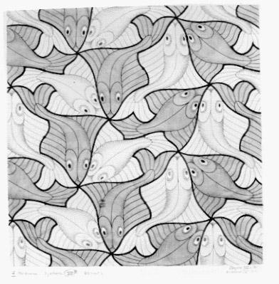 Escher for Mc escher tessellations coloring pages