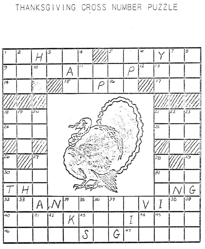... puzzles holiday puzzles thanksgiving puzzles printer version answer