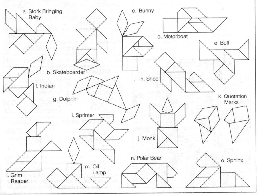 tangram coloring pages - photo#20
