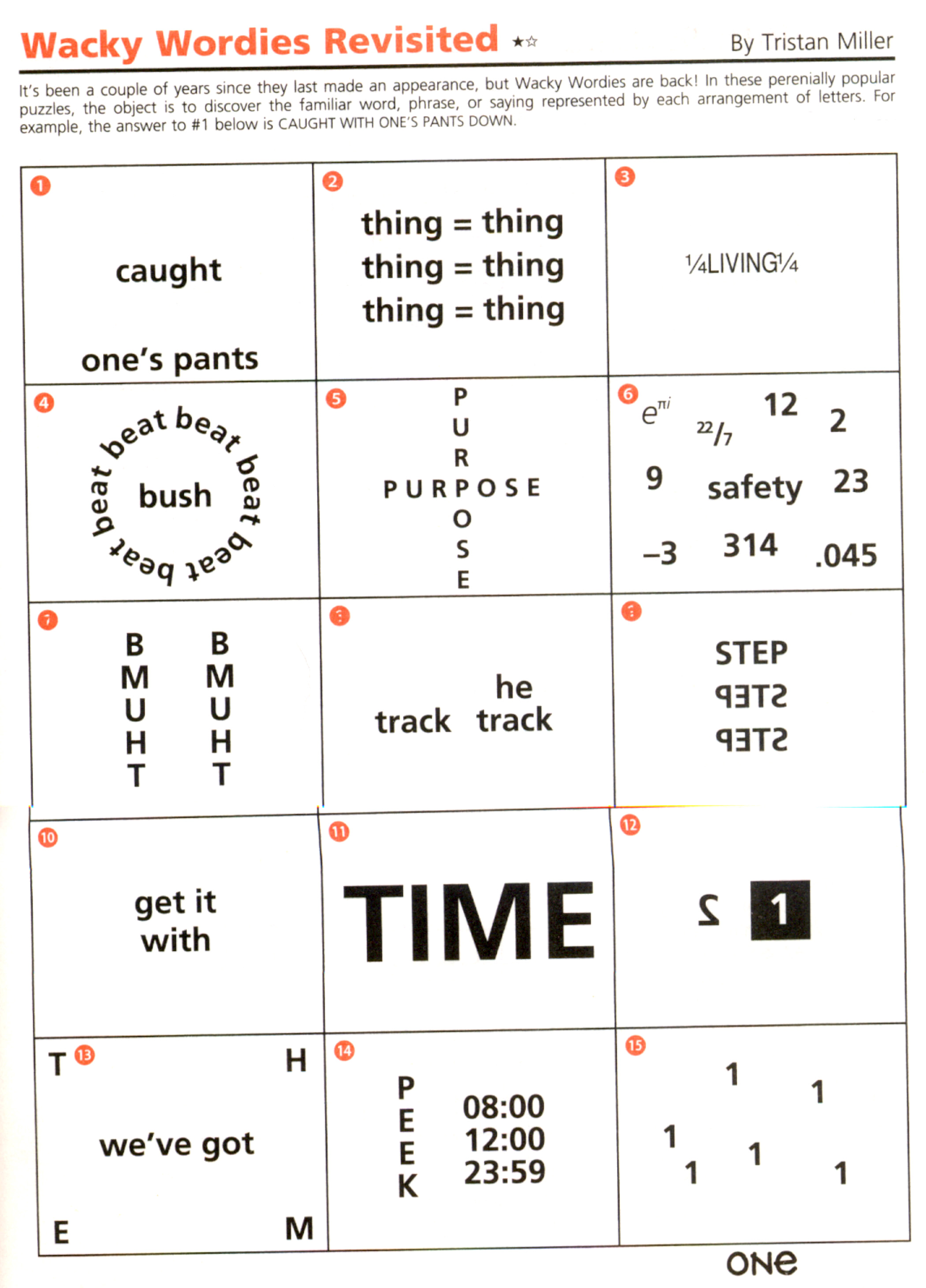 Wacky Wordies Puzzles Solutions And Worksheets Autos Post