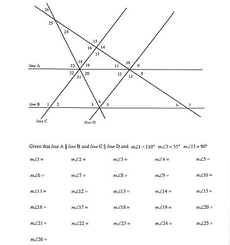 Printables Geometry Angles Worksheet worksheets alternate interior angles worksheet laurenpsyk free answer to problem of