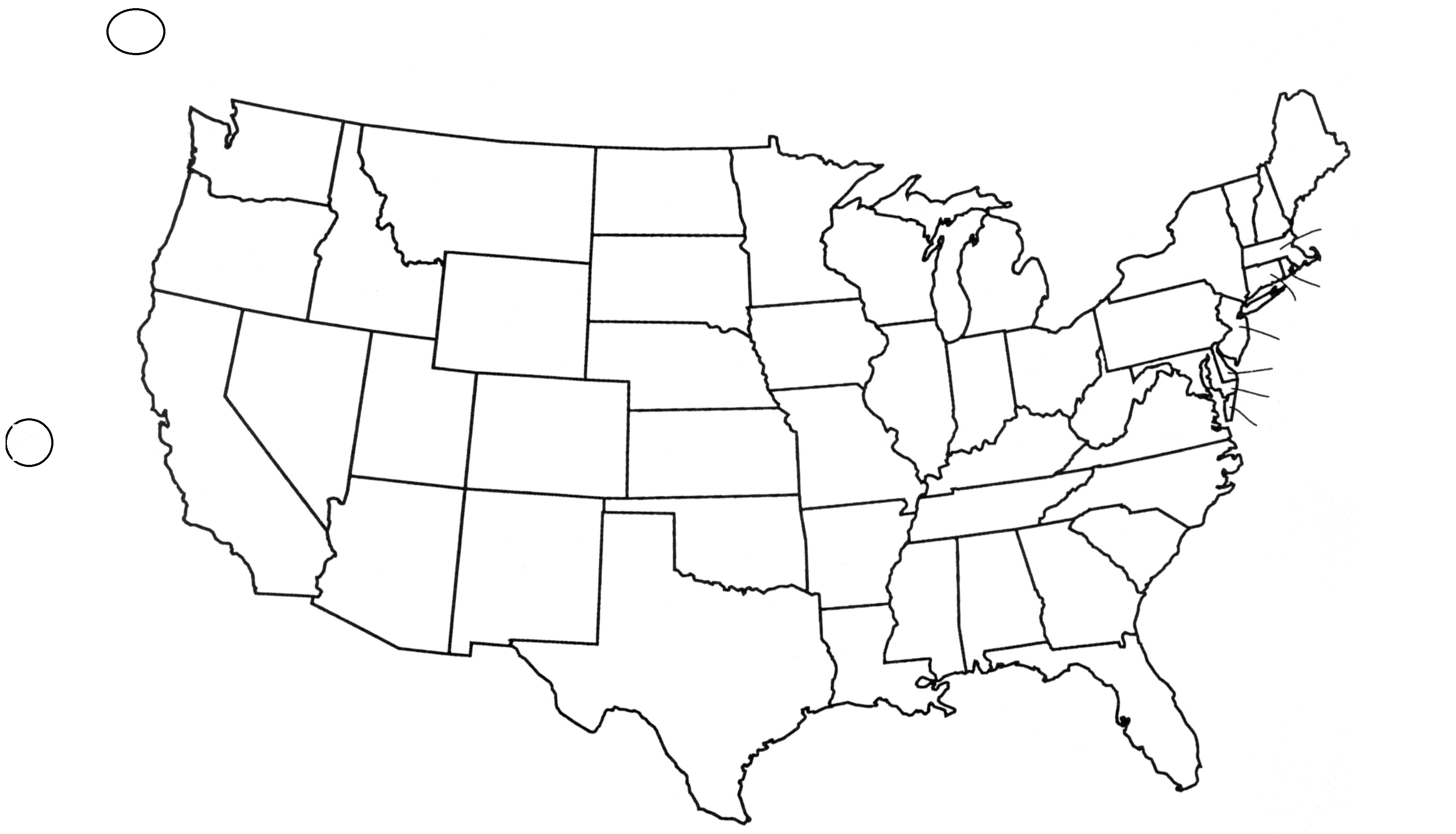Blank State Map Of Usa Blank State Map Of Usa Printable State - Us trails map quiz