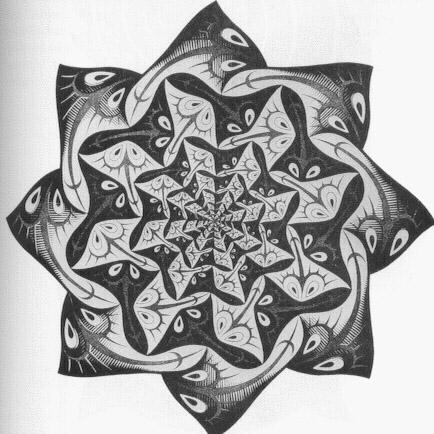 Kleurplaat C Art Of M C Escher